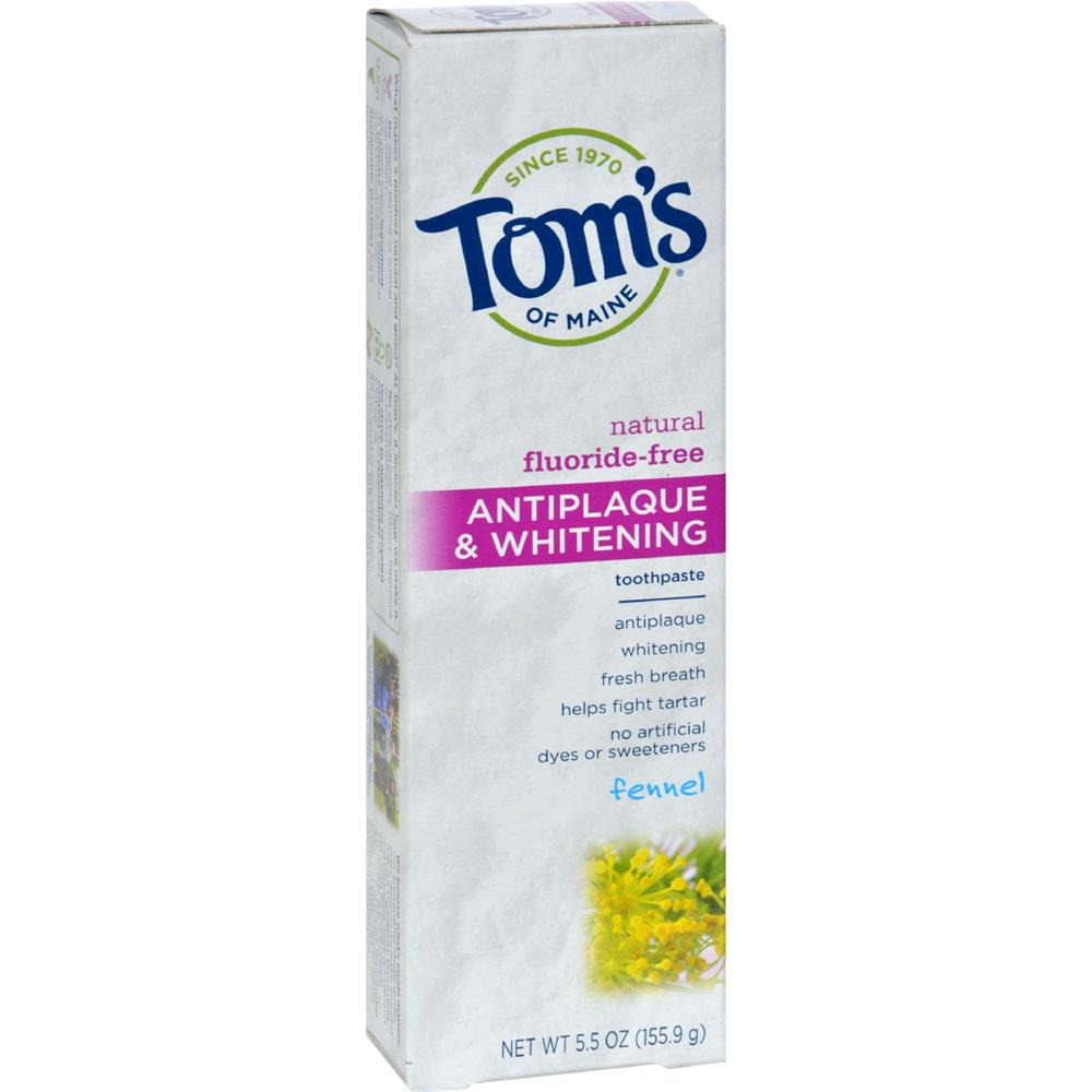 Tom's of Maine - Antiplaque And Whitening Toothpaste Fennel ( 6 - 5.5 OZ)