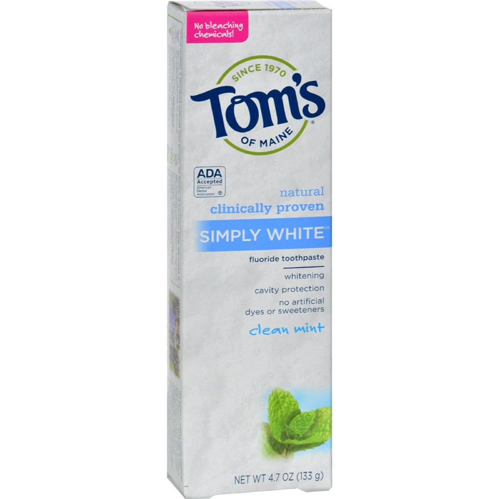 Tom's of Maine - Simply White Toothpaste Clean Mint ( 6 - 4.7 OZ)