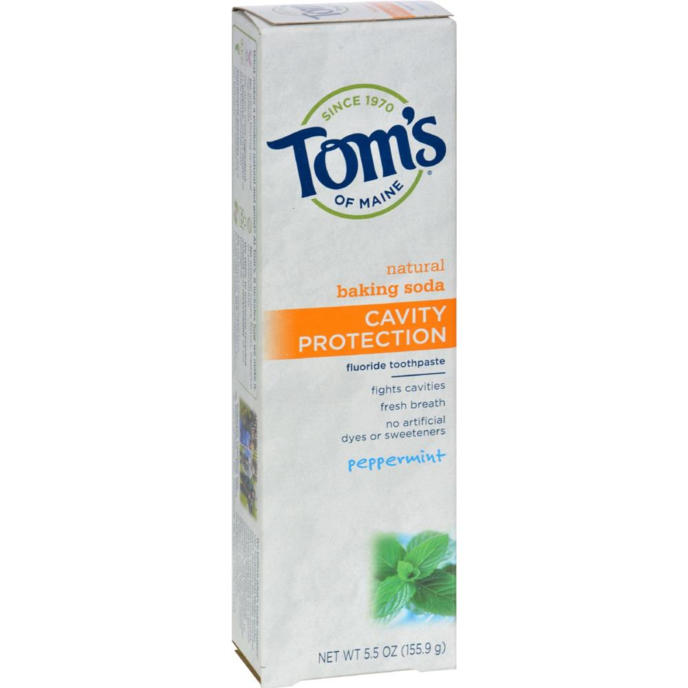 Tom's of Maine - Cavity Protection Toothpaste- Peppermint ( 6 - 5.5 OZ)