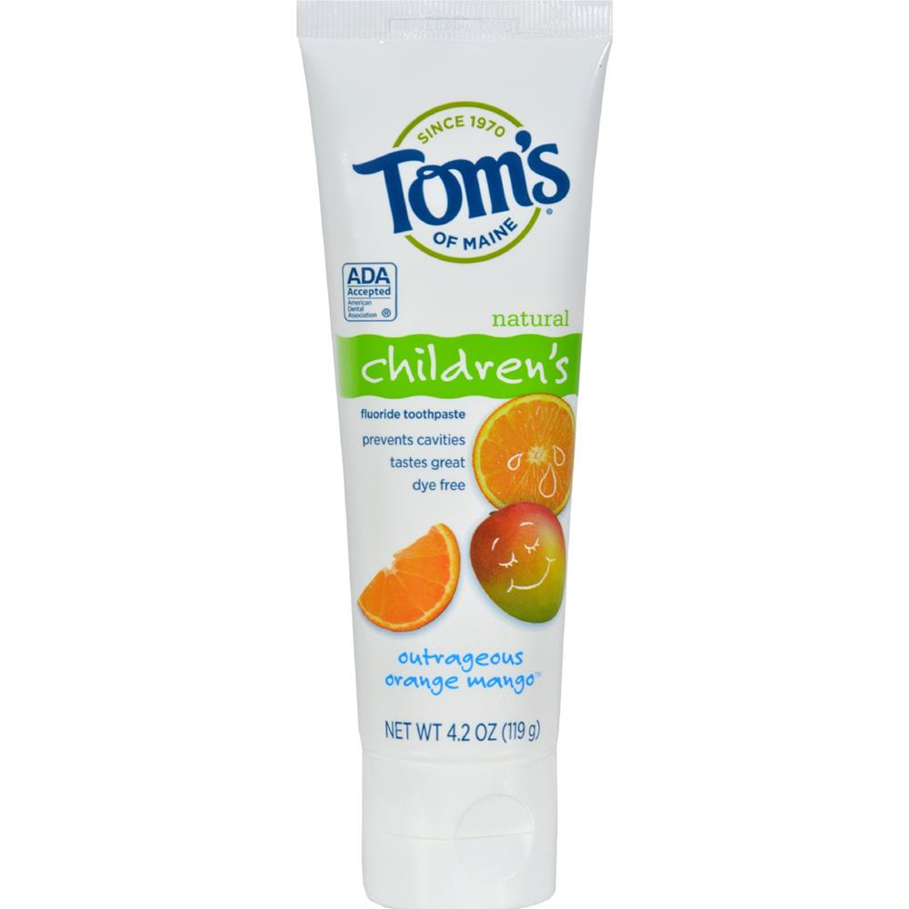 Tom's of Maine - Outrageous Orange Mango Children's Natural Fluoride Toothpaste ( 6 - 4.2 OZ)