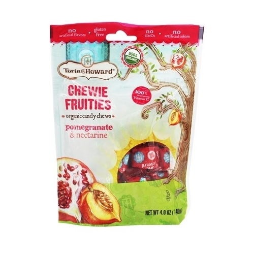 Torie and Howard Organic Pomegranate and Nectarine Chewie Fruities (6x4 OZ)
