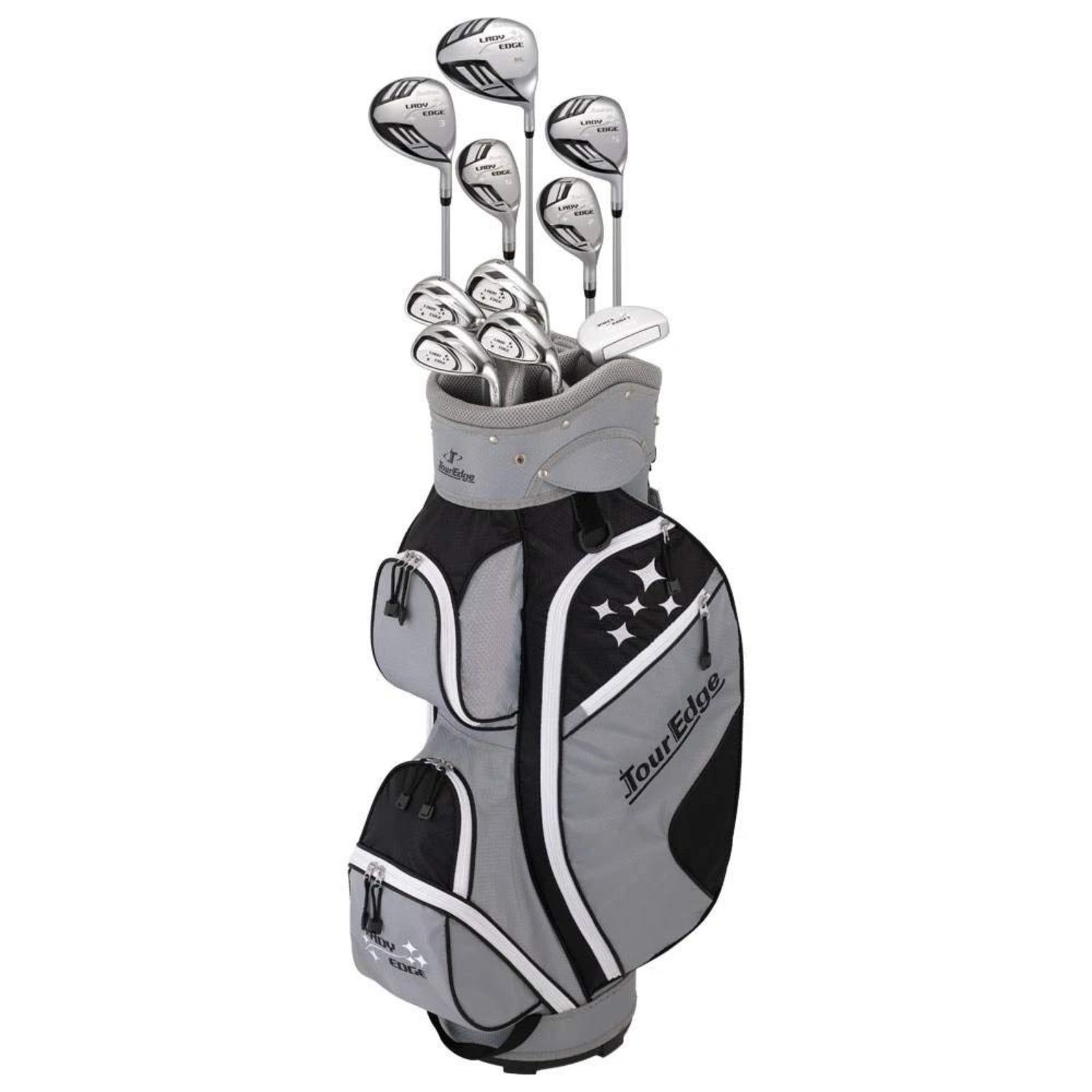 Tour Edge 2020 Lady Edge Full Set Black Grey White Petite