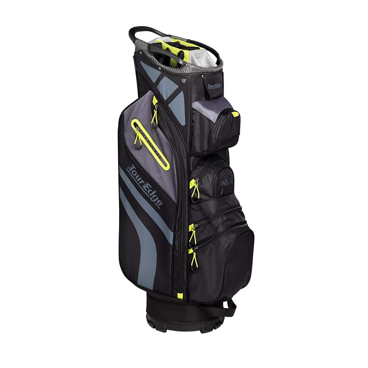 Tour Edge Hot Launch HL4 Golf Cart Bag-Black Lime Grey