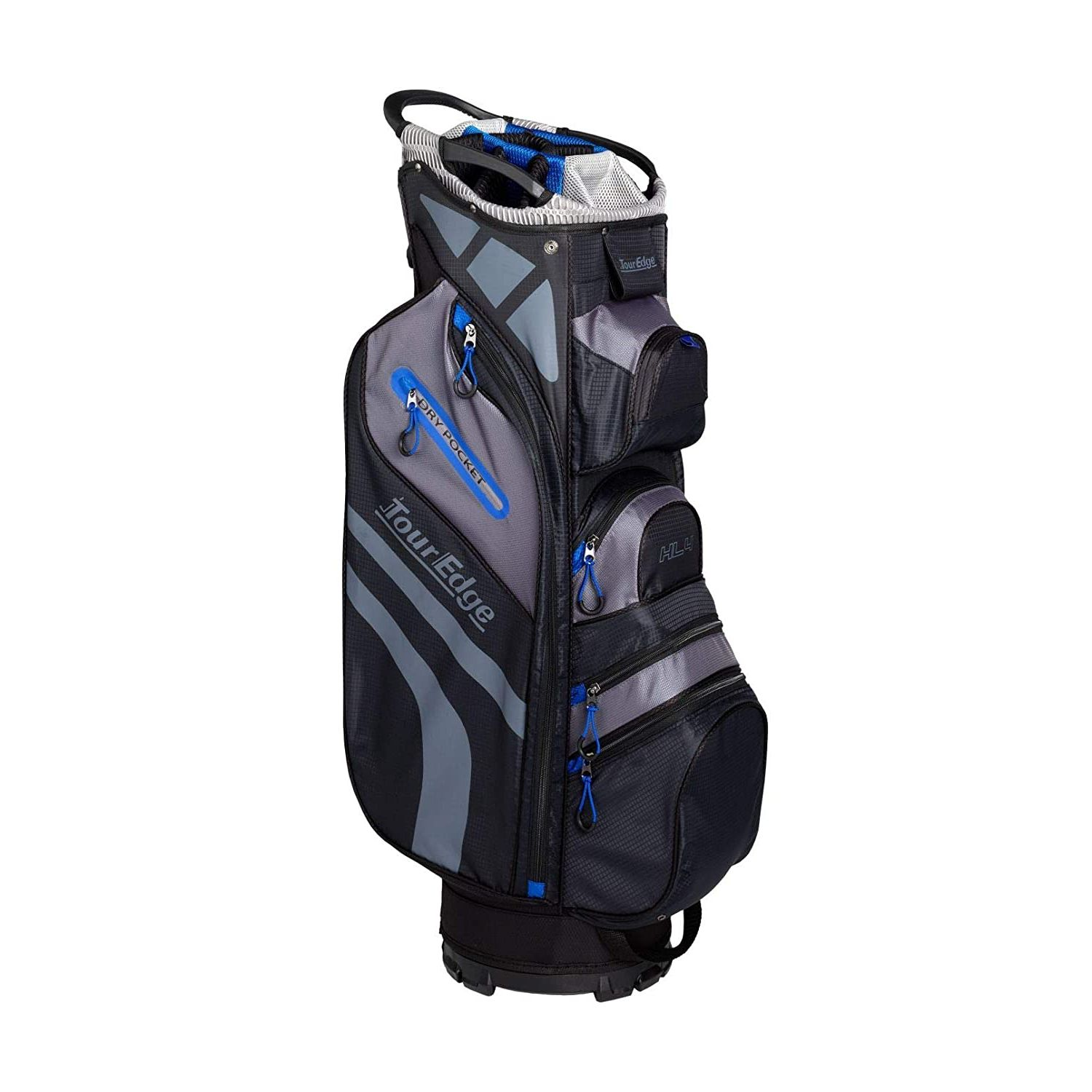 Tour Edge Hot Launch HL4 Golf Cart Bag-Black Blue Grey