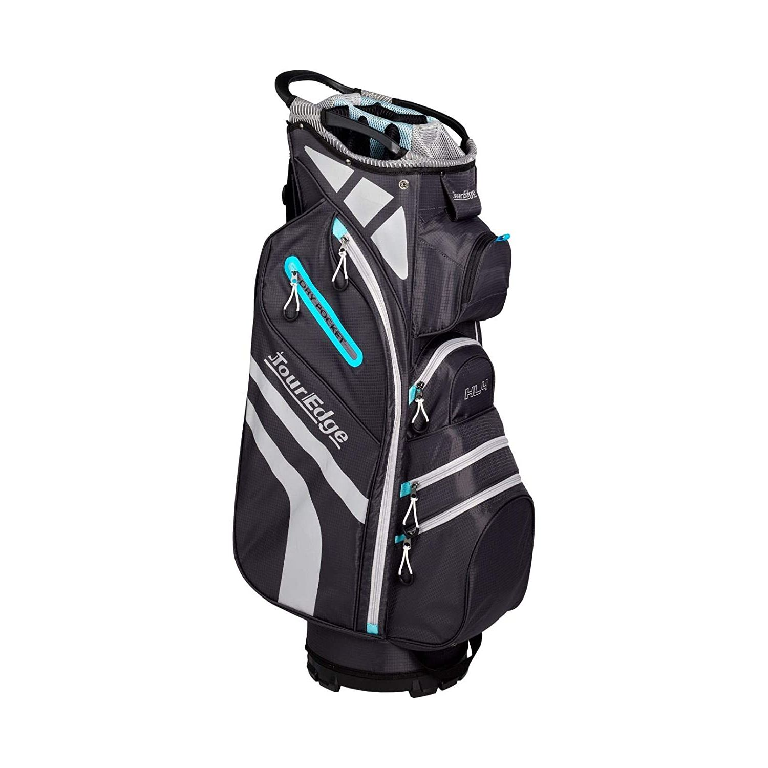 Tour Edge Hot Launch HL4 Ladies Golf Cart Bag-Silver Blue Black