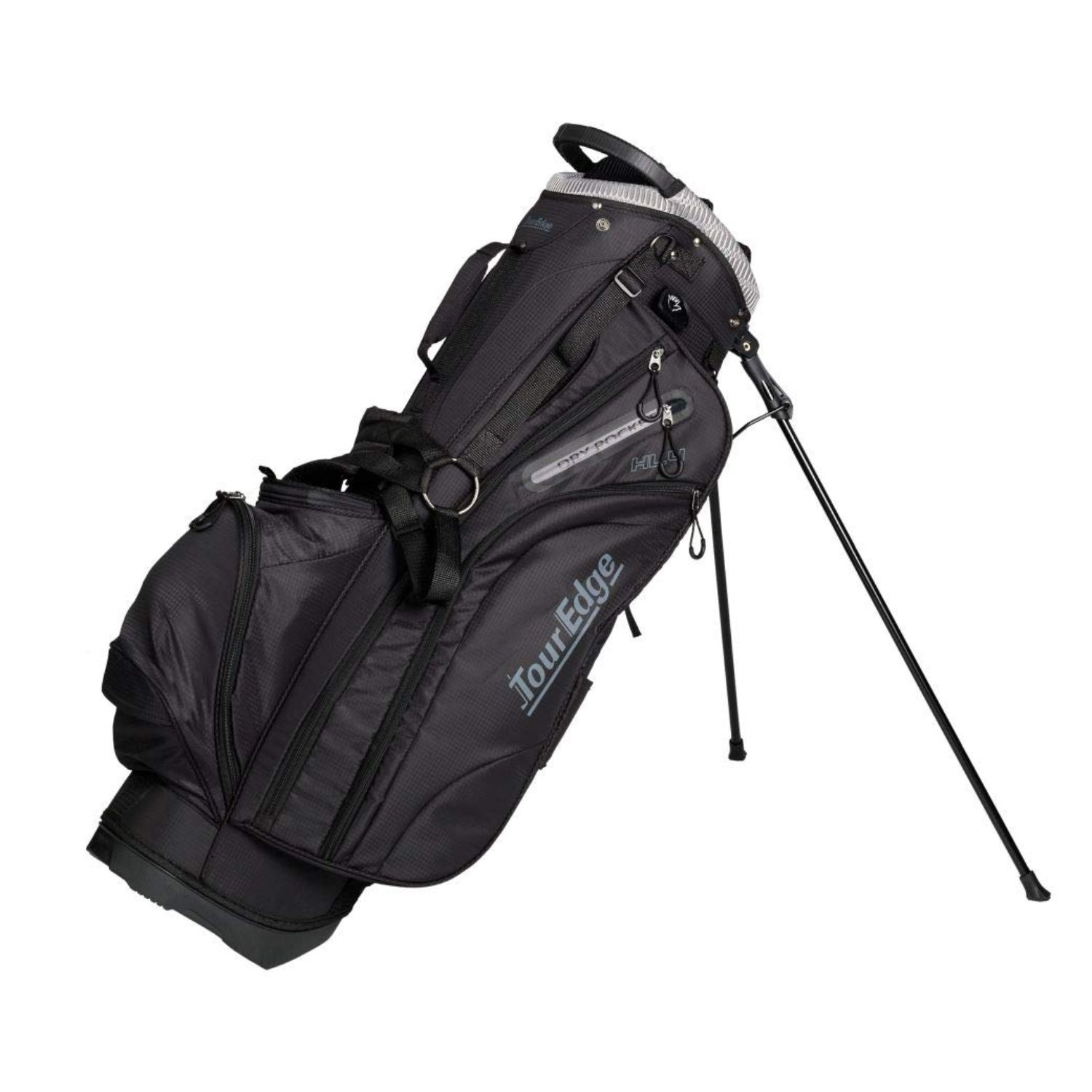 Tour Edge Hot Launch HL4 Golf Stand Carry Bag-Black Silver