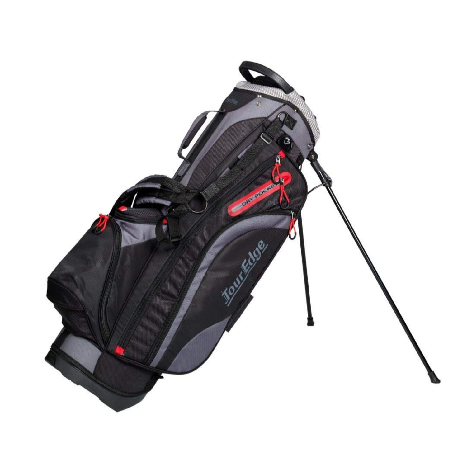 Tour Edge Hot Launch HL4 Golf Stand Carry Bag-Black Red Silver