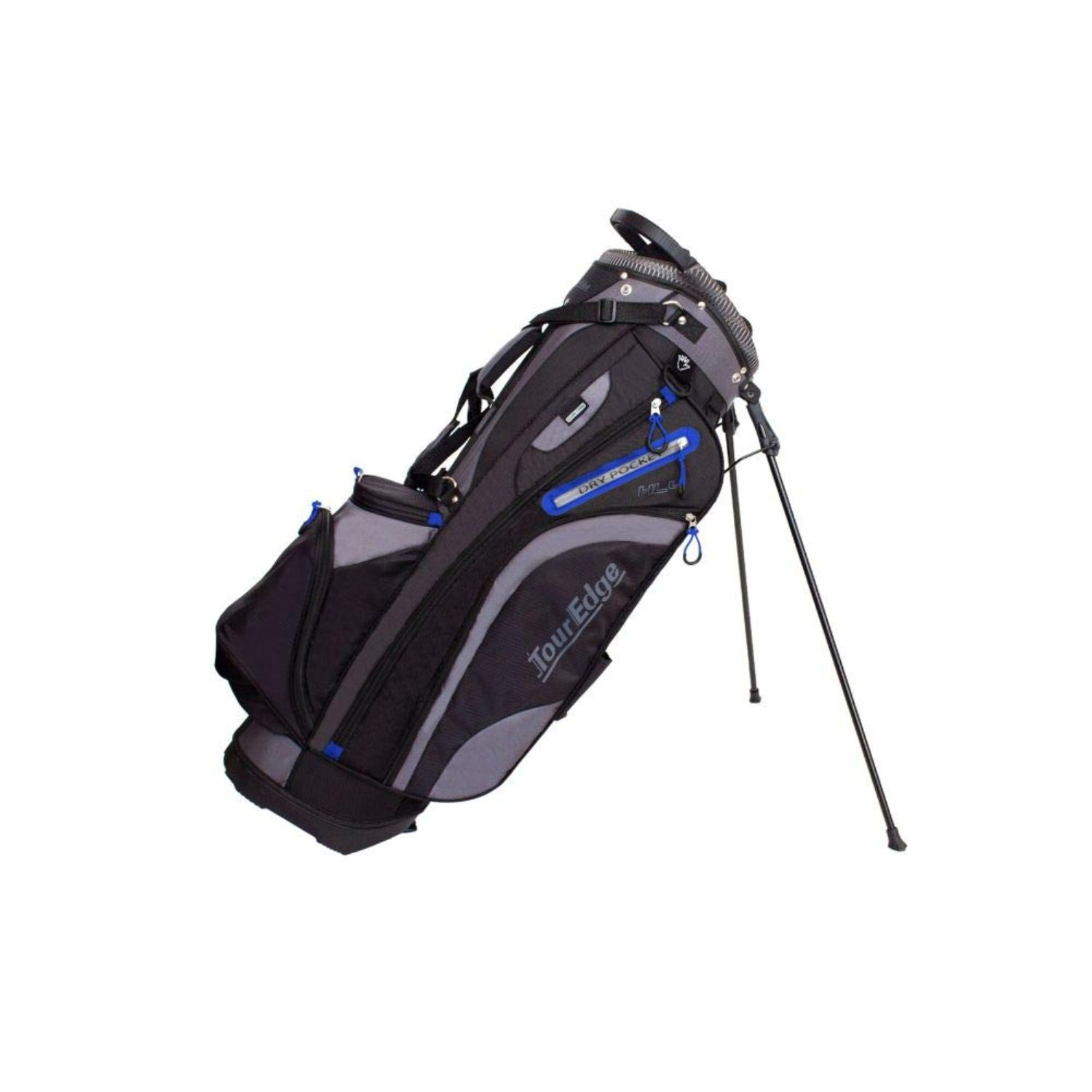 Tour Edge Hot Launch HL4 Golf Stand Carry Bag-Black Blue Sil