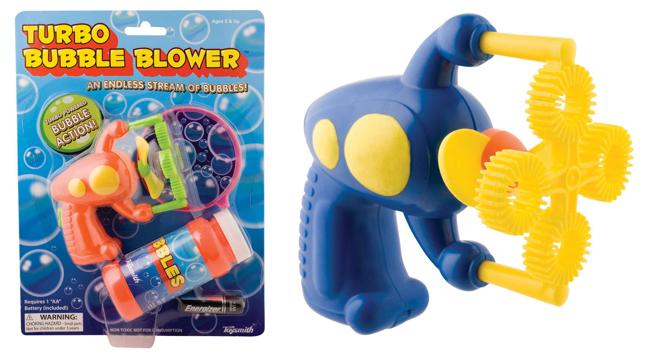 Many Bubbles Mini Ray Gun (Colors may vary)