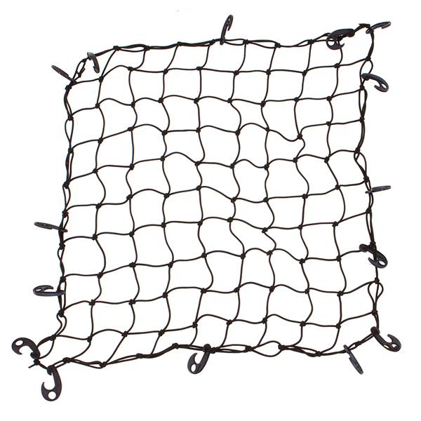 Universal Car Storage Rooftop Cargo Netting with Reinforced Hooks, 30-Inches by 45-Inches