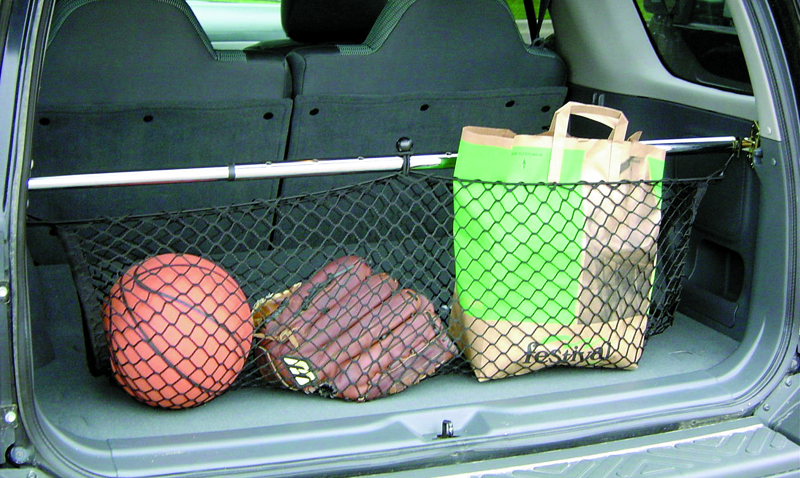 Universal Vehicle Storage Telescoping Cargo Bar with Net, 47-Inches to 70-Inches
