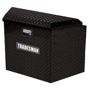 "21"" Aluminum Trailer Tongue Tool Box, Black"