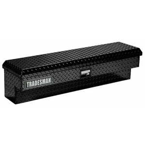 "70"" Aluminum Side Bin Tool Box, Black"