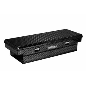 "63"" Aluminum Cross Bed Tool Box, Black"
