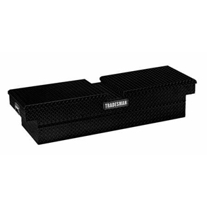 "70"" Aluminum Gull Wing Cross Bed Tool Box, Black"