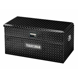 "36"" Aluminum Flush Mount Tool Box, Black"
