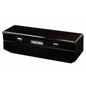 "56"" Aluminum Flush Mount Tool Box, Black"