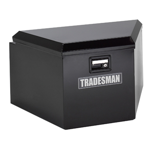 "16"" Steel Trailer Tongue Tool Box, Black"