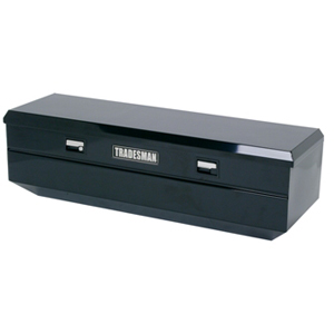 "60"" Steel Flush Mount Tool Box, Black"