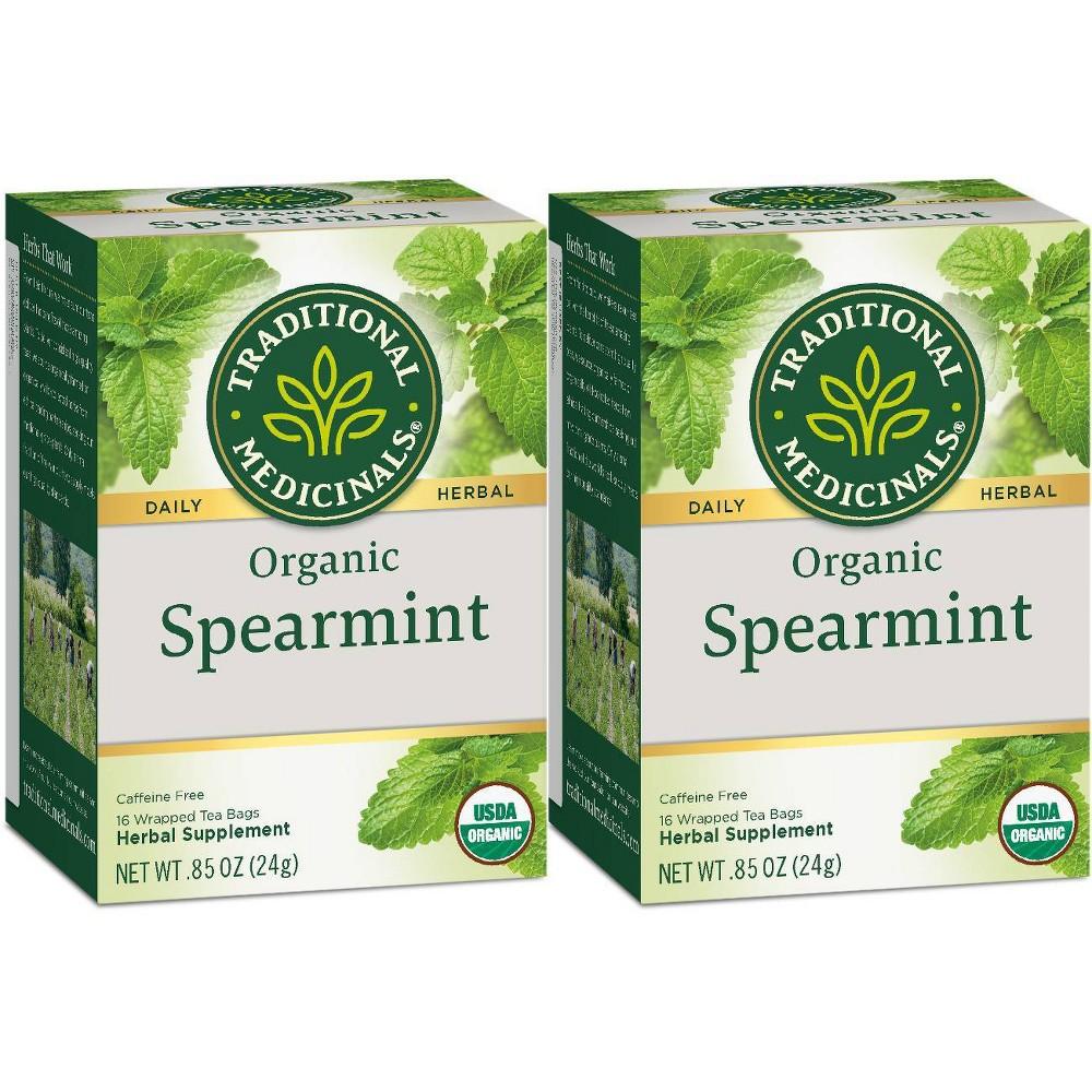 Organic Spearmint Herbal Tea ( 6 - 16 BAG )