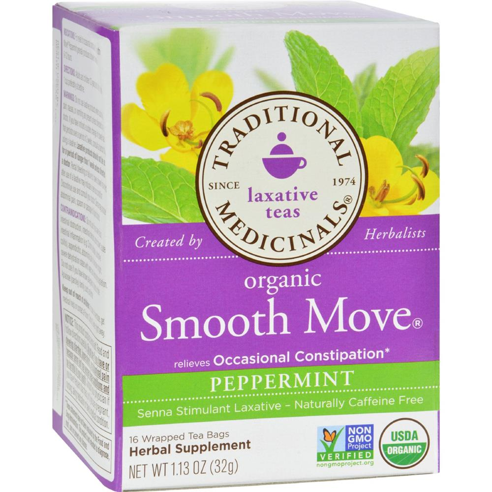 Traditional Medicinals - Organic Smooth Move Peppermint Herbal Tea ( 6 - 16 BAG)