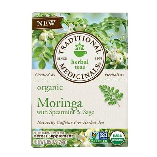 Herb Tea - Organic - Moringa Spearmint Sage ( 6 - 16 BAG )
