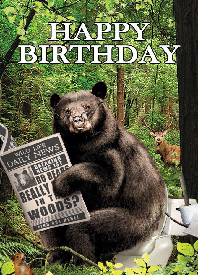 Bear in the Woods Birthday