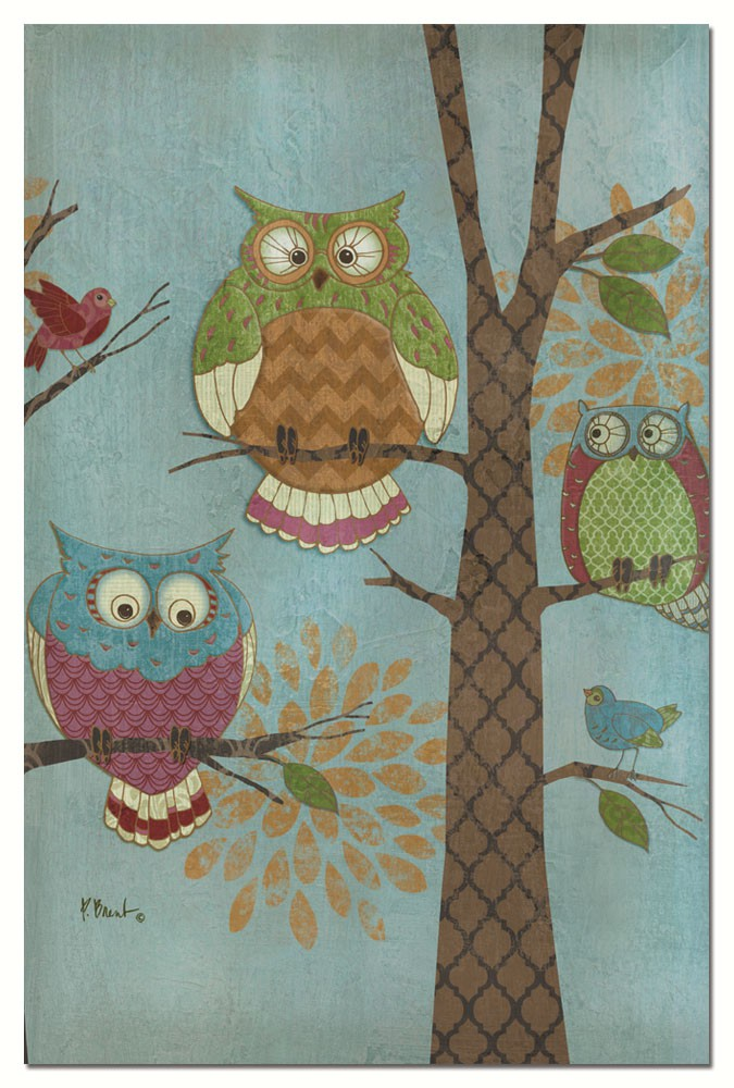 Fantasy Owls Vertical Eco Note