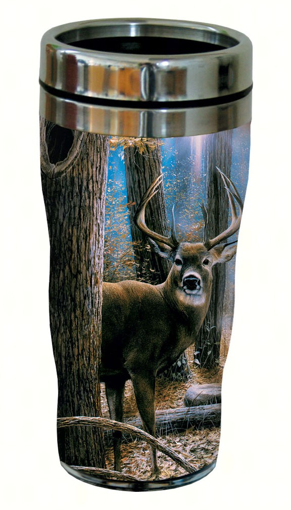 Woodland Sentry Buck Travel Tumbler