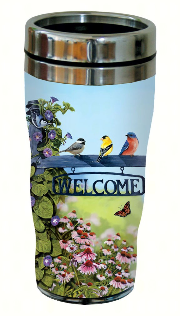Welcome Birds Travel Tumbler