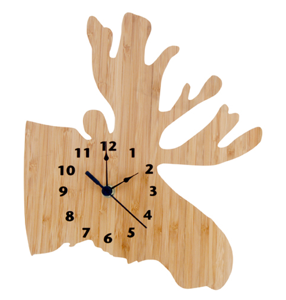 Trend-Lab Wall Clock -Northwoods Moose
