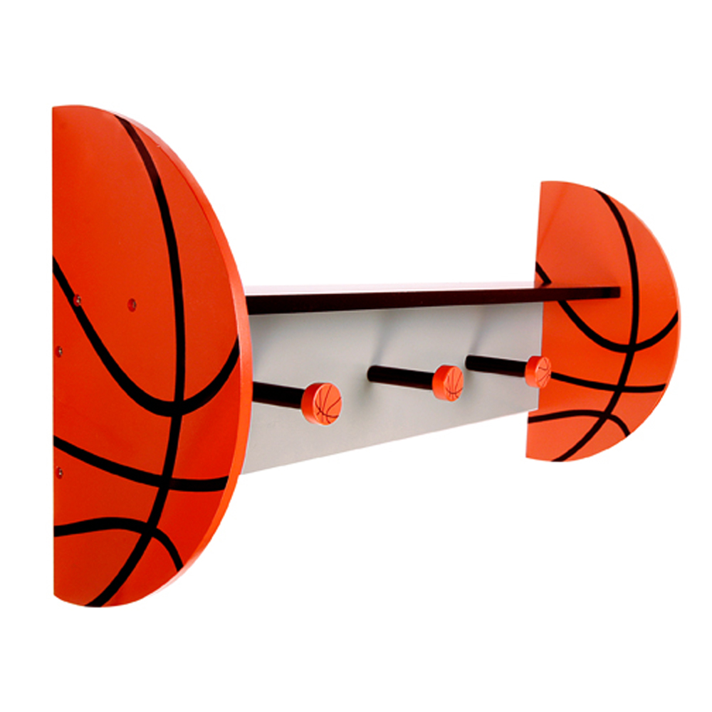 Basketball - Wall Shelf With Pegs