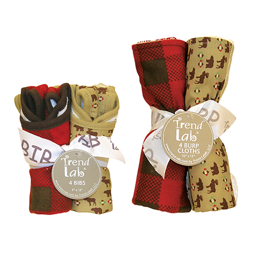 Bouquet Set - Northwoods - Bib & Burp Cloth