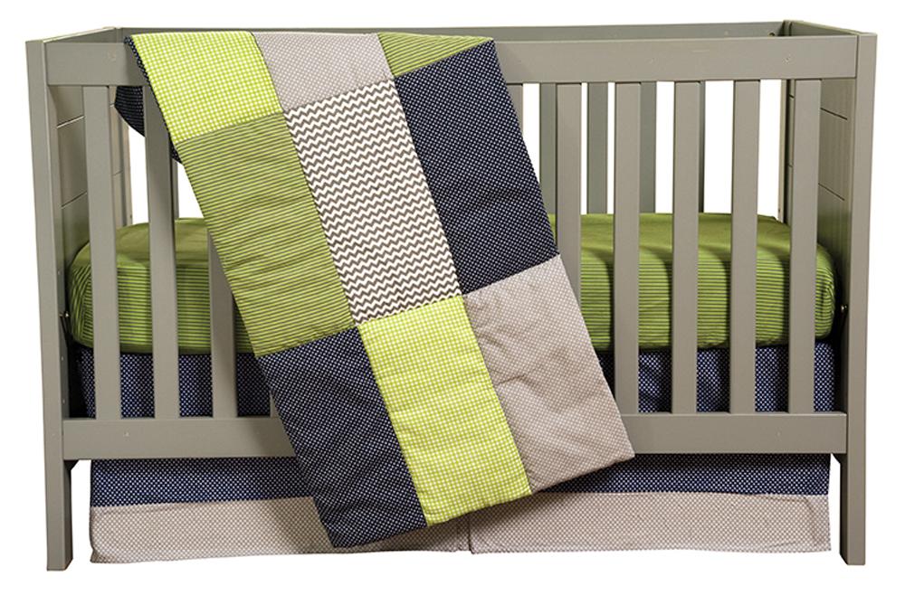 Perfectly Preppy - 3 Piece Crib Bedding Set