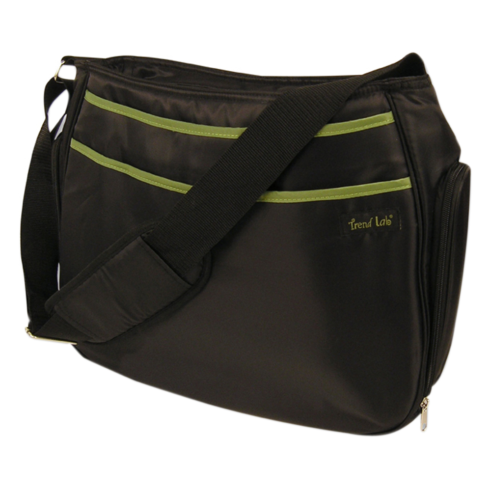 Trend Lab Baby Nappy Changing Mother Shoulder Diaper Bag - Hobo Black/Avocado