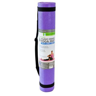 "1/4"" Yoga Mat w Crry Strap Lav"