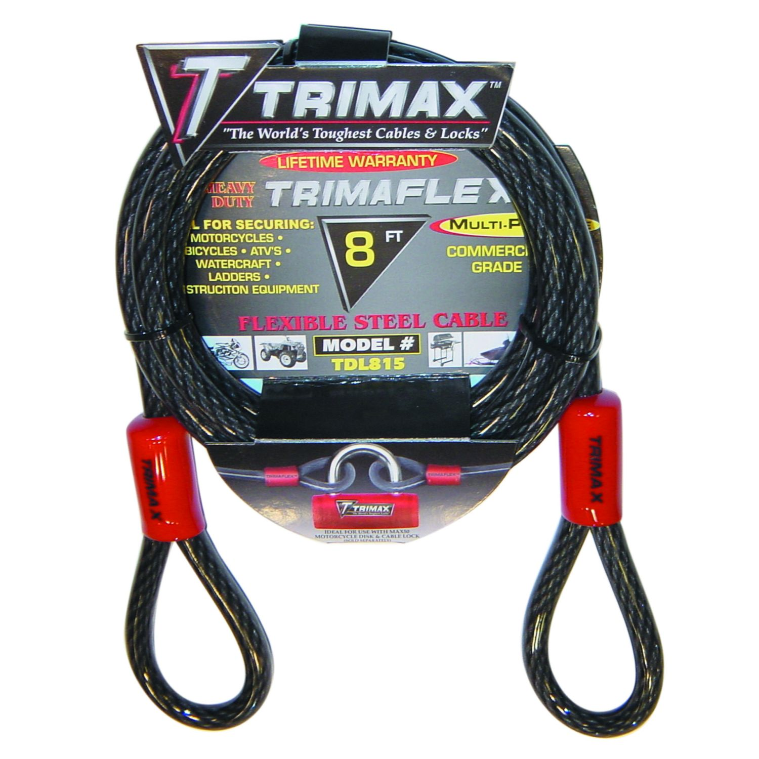 Trimax Trimaflex Dual Loop Multi-Use Cable 8 ft x 15 mm