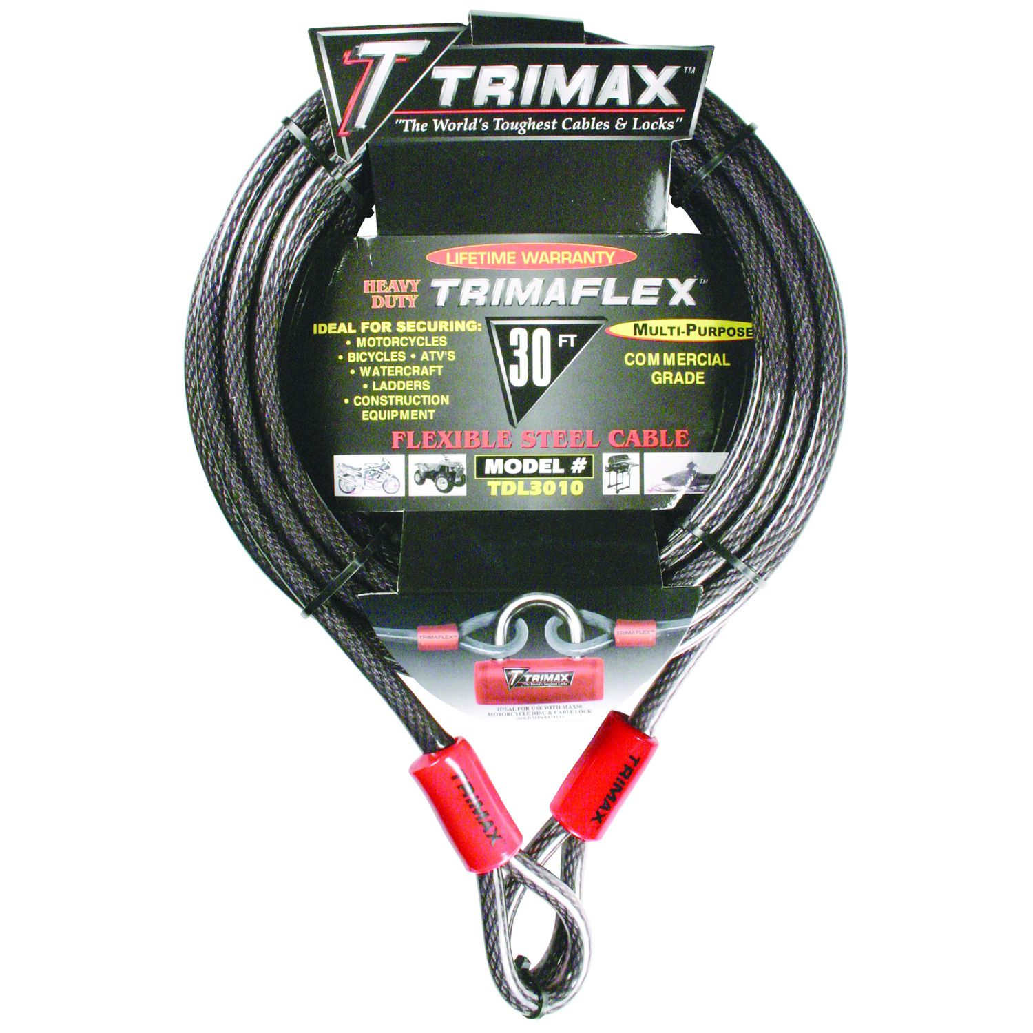 Trimax Trimaflex Dual Loop Multi-Use Cable 30 ft x 10 mm