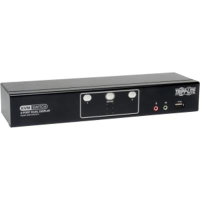 2 Port Dual Mon DVI KVM Switch