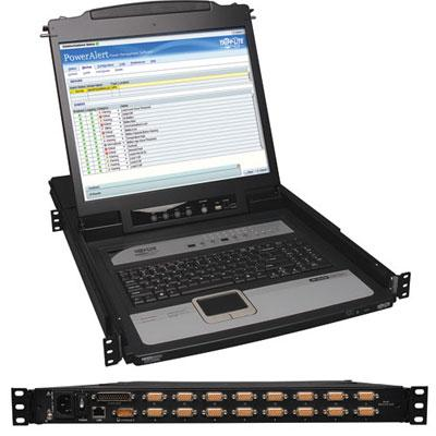 16 Port KVM Switch RM Console