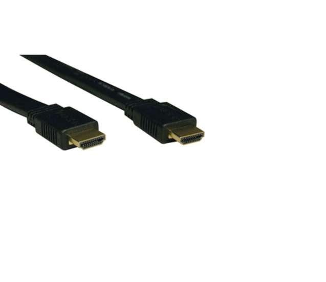 Tripp Lite Flat HDMI Gold Male To Male HDMI 16ft Black Video Cable P568-016-FL