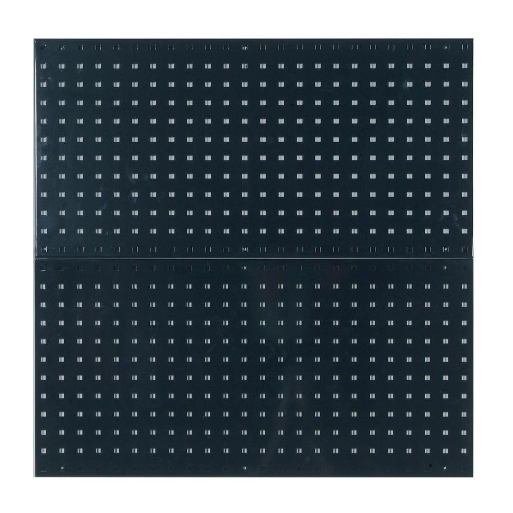 (2) 18in W x 36in H x 9/16in D Black Epoxy, 18 Gauge Steel Square Hole Pegboards
