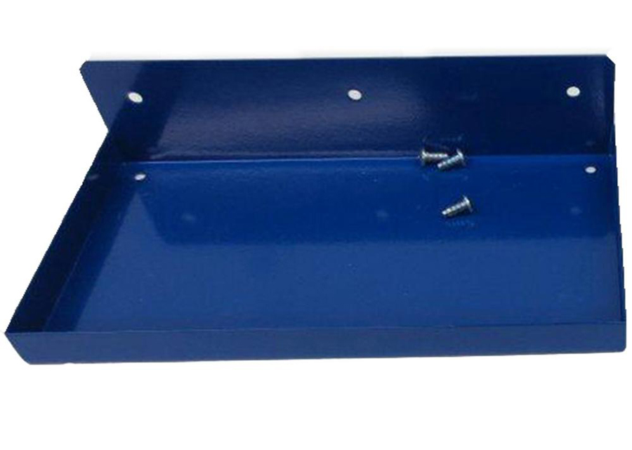 "DuraHook Steel Shelf for DuraBoard, 12""W x 6""D Blue"