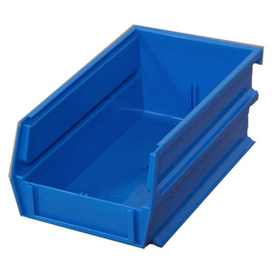 "Stacking, Hanging, Interlocking Polypropylene Bins, 7 3/8"" x 4 1/8"" x 3"" Blue, 24-Pack"