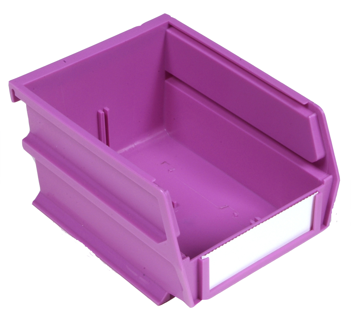 5-3/8 In. L x 4-1/8 In. W x 3 In. H Orchid Stacking, Hanging, Interlocking Polypropylene Bins, 6 CT