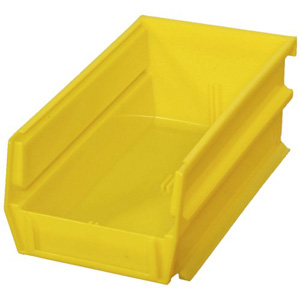 "Stacking, Hanging, Interlocking Polypropylene Bins, 5 3/8"" x 4 1/8"" x 3"" Yellow, 24-Pack"