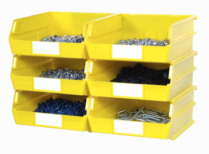 Wall Storage - Lg YEL Bins/Rails 8 CT