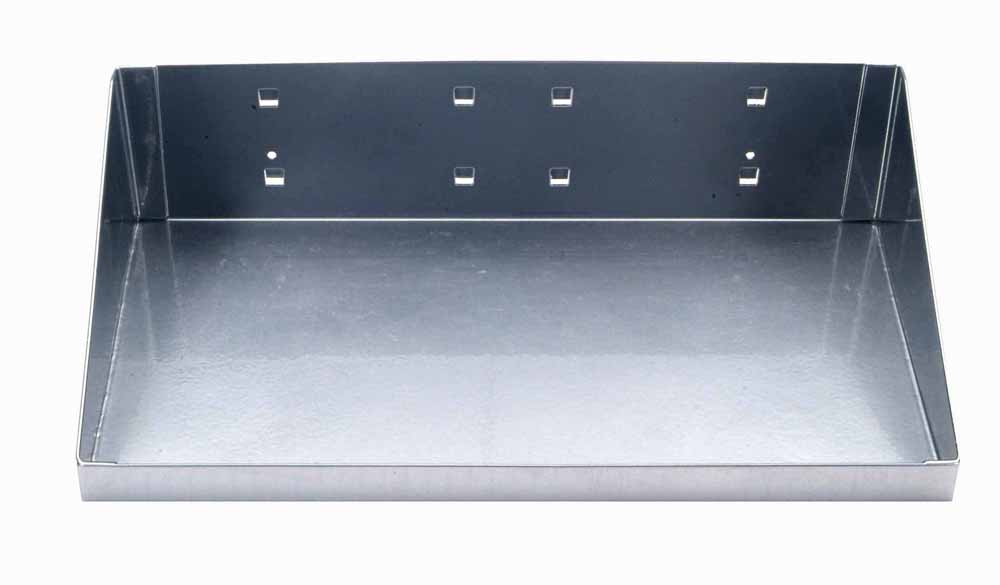 "12""W x 6""D Silver Epoxy Powder Coated Steel Shelf for LocBoard"