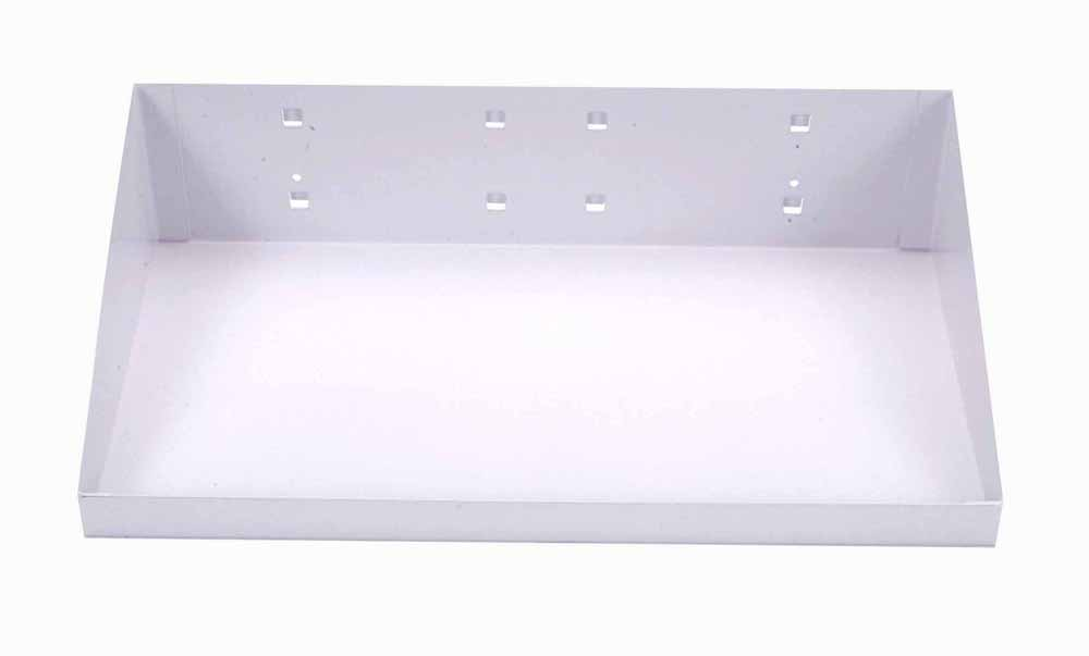 "12""W x 6""D White Epoxy Powder Coated Steel Shelf for LocBoard"