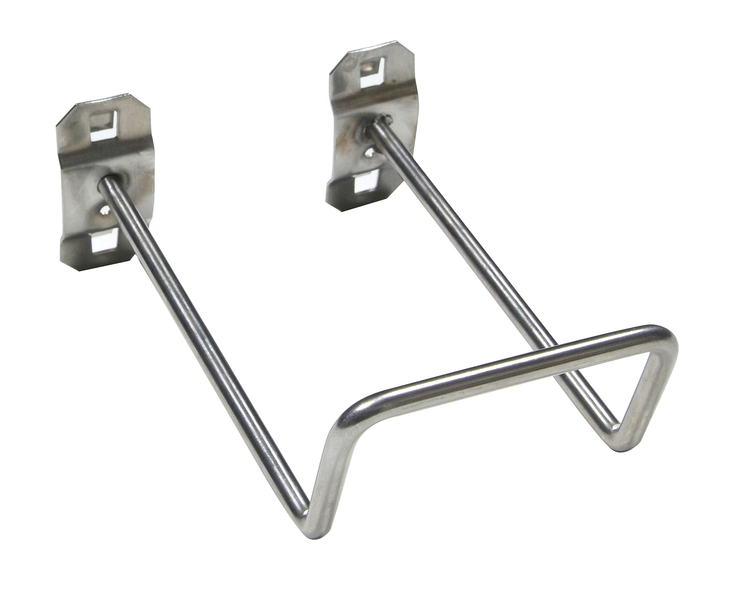 5 In. 80 Degree Bend 2-3/4 In. I.D.Stainless Steel Double Closed End Loop Pegboard Hook for Stainless Steel LocBoard, 2 Pack